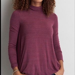 American Eagle Purple Mock Neck Sweater